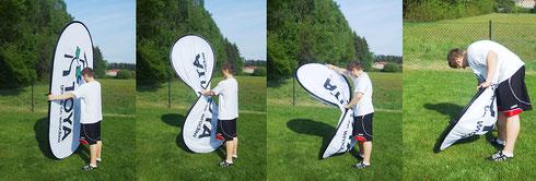 Pop Up Banner, Pop Up Banner bedrucken, Pop Up Banner mit Logo, Pop Up Banner bedrucken, Pop Up Banner Werbemittel, Pop Up Banner Golfplatz