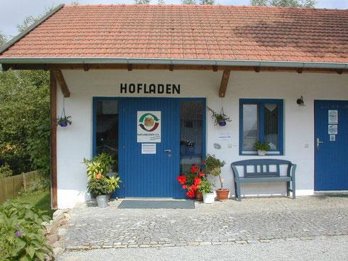Eingang zu Winklhofers Hofladen in Kohlpoint