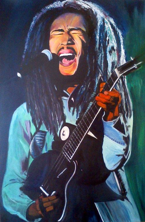 Bob Marley Acryl auf Leinwand 120x80cm