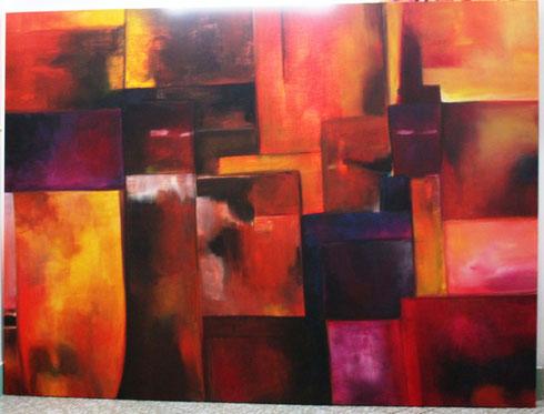 Farbenspiel Acryl auf Leinwand 170x230cm