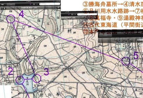 実際のナヴィゲーションに使った明治期の地図