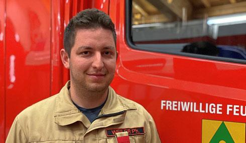Philipp Weiler ist neuer Obermaschinist der Feuerwehr Mutters