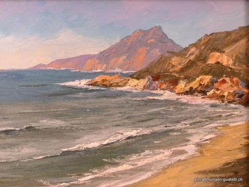 am Meer, Gemälde 35 x 50 cm