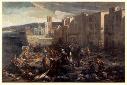 Die Pest, der schwarze Tod in Marseille