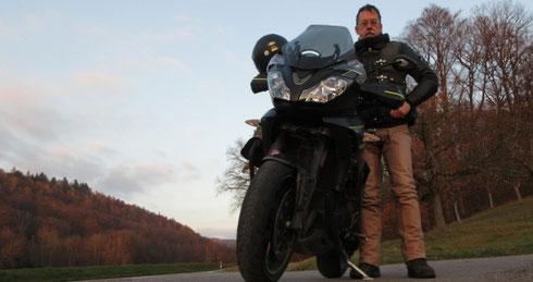 »End of Ride 2020«, am letzten Novembersonntag, Ortsausgang Gronau Richtung Prevorst