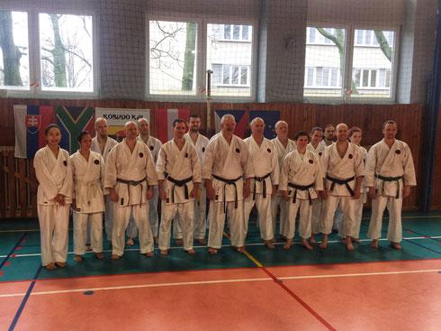 Karate-Seminar mit Bakkies Laubscher Sensei; Karateka aus Österreich