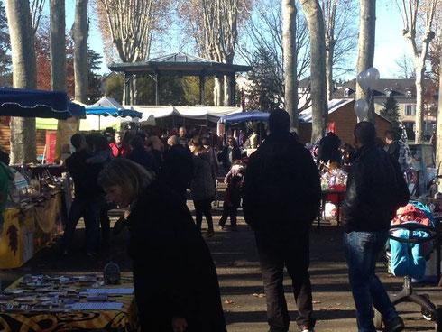 Marché de Noël au jardin public d'Oloron
