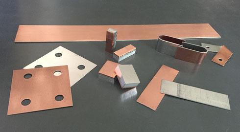 爆着クラッド プレート状、ブロック状のブスバー、バスバー素材