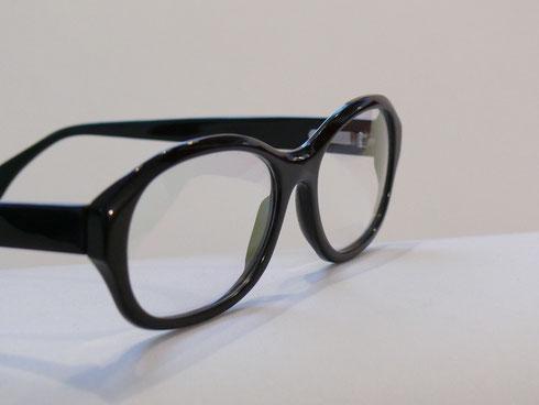 Büffelhornbrille dunkel