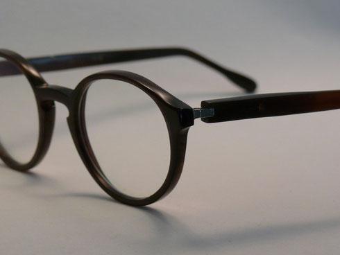 Panto Büffelhornbrille