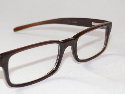 Büffelhornbrille mit Federscharnieren