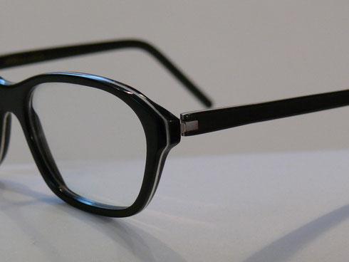 schmale büffelhornbrille