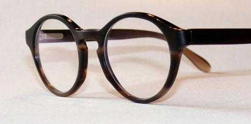 Büffelhornbrille Panto Matt