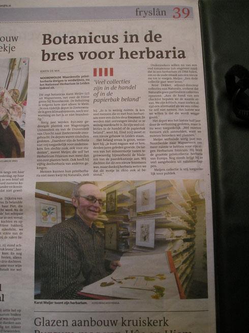 Krantenartikel Leeuwarder Courant 1 maart 2014