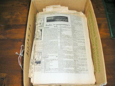 Herbarium Wattel nog tussen de kranten