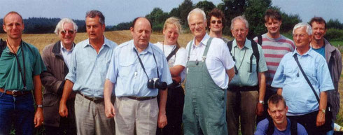Europese batalogen op bramen-excursie in Süderbrarup in Sleeswijk-Holstein in het jaar 2000.