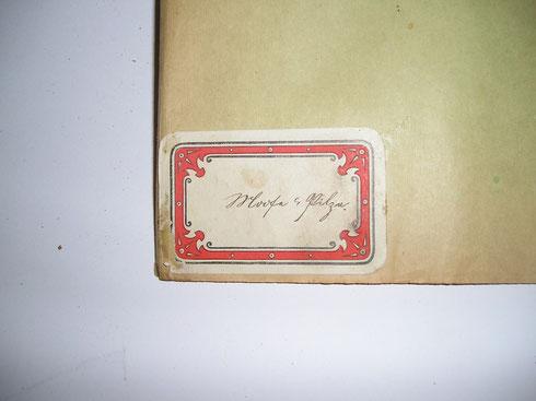 Titeletiket herbarium Hans Laubwasser 1923  collectie  herbarium frisicum