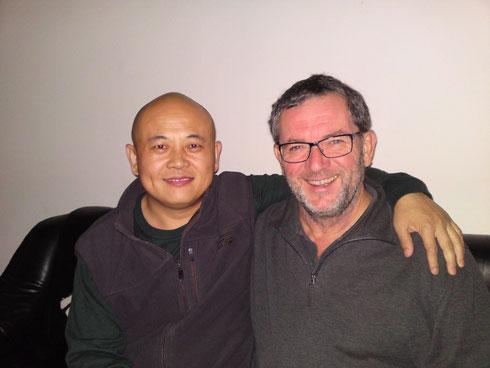 Lehrer Dou Zhanguo und Reinhard Weinthaler