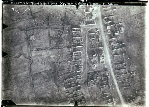 Photo aérienne Xivray – mars 1918