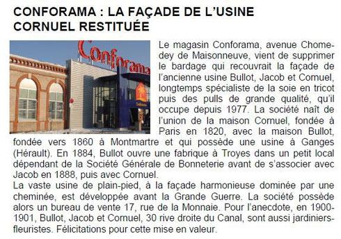 Sauvegarde et avenir de Troyes - billet n° 21 - janvier 2010