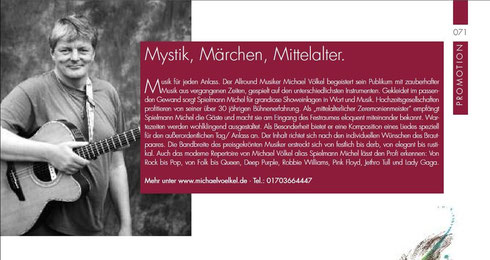 Hochzeit, Vermählung, Feier, festlich Mittelalter, michael, Völkel, Voelkel, Michel, Spielmann, Musik, gitarre, Gesang, Lied, Lieder.