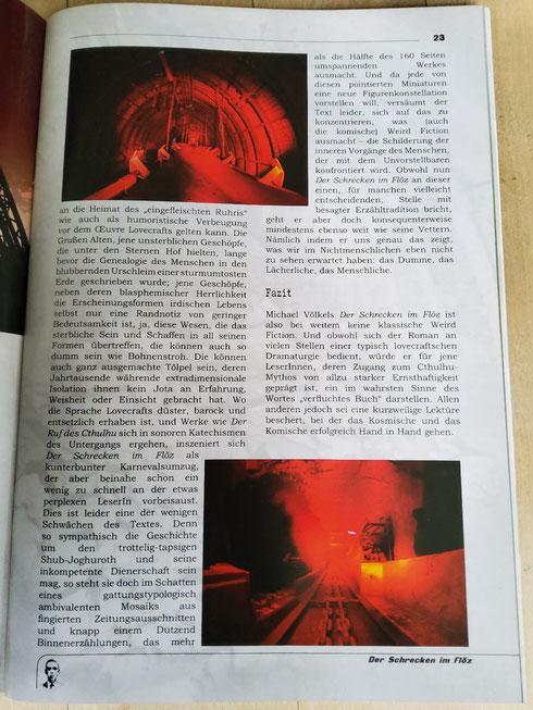 """Rezension aus dem """" Lovecrafter"""" der Vereinszeitschrift der Deutschen Lovecraft Gesellschaft."""