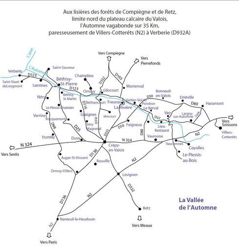 Carte de la Vallée de l'Automne