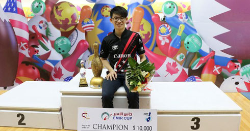 Basil Dill Ng of Singapore - Emir Cup 2018 Champion