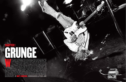 From the book 'The '90s: The Inside Stories from the Decade That Rocked', 2011 by The Editors of Rolling Stone – image by Charles Peterson (Nirvana, Vancouver, 1991)