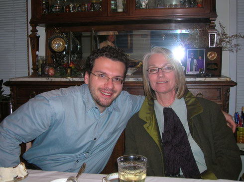 Anthony with his mentor, Louise Erpelding, former President of the National Society of Graphology
