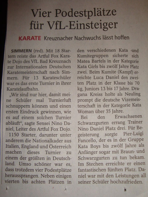 Allgemeine Zeitung Bad Kreuznach, Juli 2014