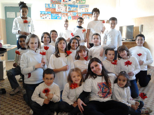 イタリアの子供たちから、ありがとう!