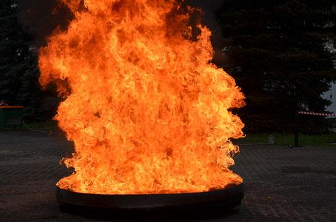 Pożar testowy ciecze palne