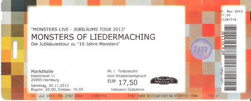 Nr. 115 - 30.11.2013 - Monsters of Liedermaching - Markthalle, Hamburg