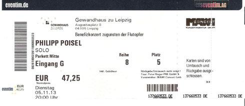 Nr. 107 - 05.11.2013 - Philipp Poisel - Gewandhaus, Leipzig