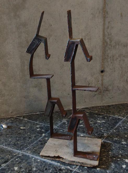 Metallkunst skulpturen moderne wandbilder aus metall for Metallskulpturen garten