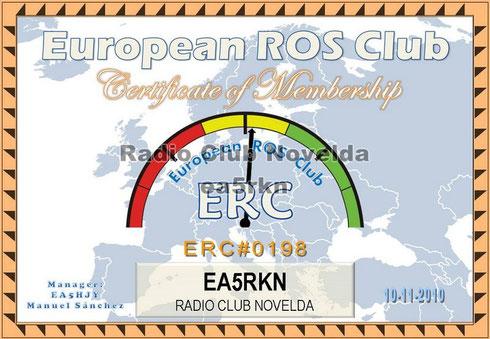 El Radio Club Novelda, es miembro del European Ros Club, desde el cual también salimos al aire con este modo digital.