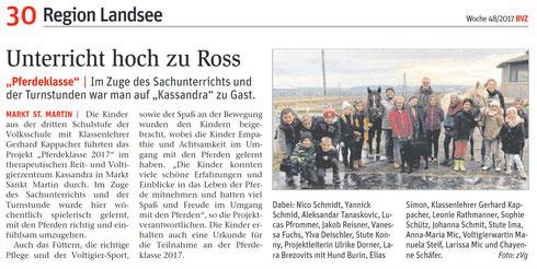 BVZ-Zeitungsartikel vom 29.11.2017