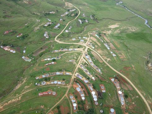 Schöne große Plätze zum Paragleiten in Südafrika