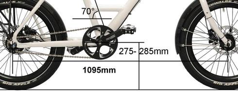 Langer Radstand für ruhigen Lauf - flacher Sitzwinkel für guten Kraftfluß