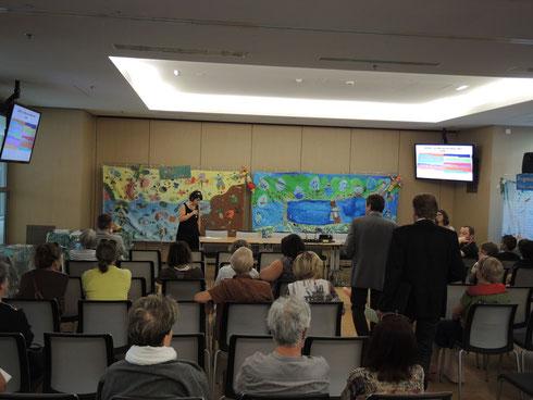 Exposition à l'Hôtel de Région avec la présence de nos partenaires et des professeurs des écoles