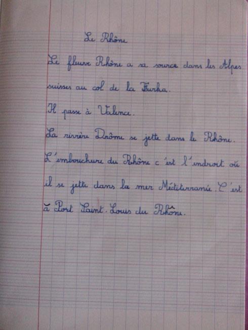 Cahier de travail