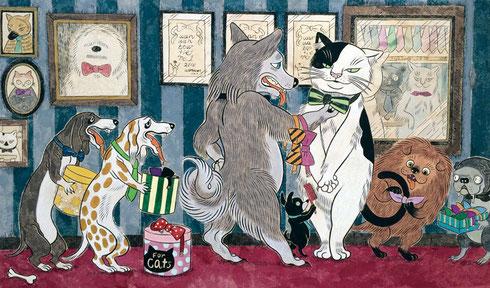 DM絵:石黒亜矢子「犬のネクタイ屋さん」