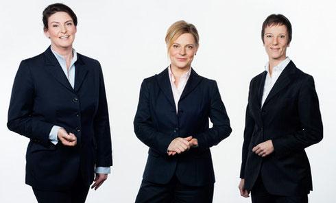 Meike Pflaumbaum, Anett Kießling, Daniela Potzel