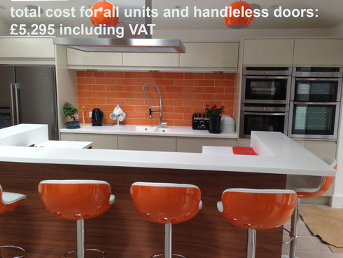 Brighton and Hove kitchen design with breakfast bar