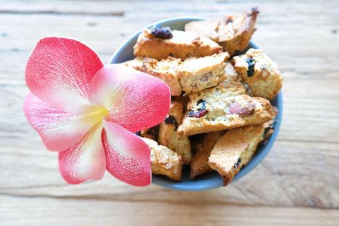 Exotische Cantuccinis mit Cranberries | natürlich gesüßt
