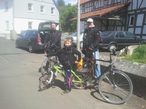 Birdrace-Team 2014: SEHadler NABU Fronhausen: Carsten Busse, Moritz Wagner, Stefan Wagner, es fehlt Björn Behrendt