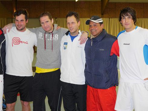 v.l. Dirk Groth, Gerrit Lotz, Pascal Wilkat, Trainer Luis Elias, Patrick Elias