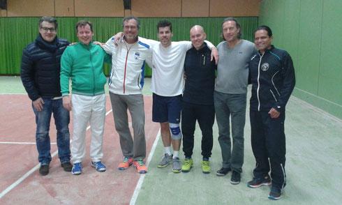 v.l. Ecki Heming, Harald Schulze, Gert Vigener, Achim Hoss, Christoph Eßmann, Josef Poschmann und Luis Antonio Elias Grasso