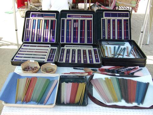塗箸、半塗半摺箸、うるしスプーン、摺うるし箸、箸置